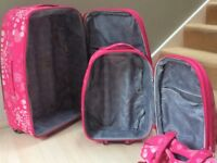 2suit cases and carry bag