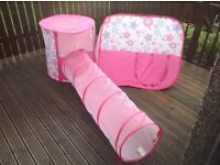 Pop up Tent and Tunnel Set