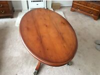 Beautiful Reproduction Yew Wood Occasional Table