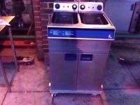 DOUBLE TANK FASTFOOD CATERING CHIPS TAKEAWAY FRYER MACHINE COMMERCIAL SHOP PUB KITCHEN RESTAURANT