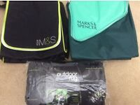 Never been used Marks and Spencer cooler bags with full zipper/shoulder straps+new picnic blanet