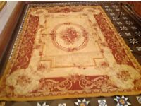 Laura Ashley Ambusson Gold/ red rug