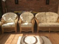 3 piece cane furniture set.