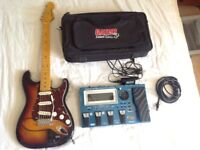 ROLAND GR55 GR-55 GUITAR SYNTHESIZER + GK2A PICKUP + 13 PIN CABLE PSU + GATOR SOFT CASE