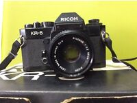 Vintage 1979 Ricoh KR-5 35mm SLR Camera in mint condition