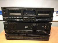 Technics amp. tuner and double cassette deck