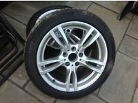 Bmw 318d msport f30 alloy wheels and tyres