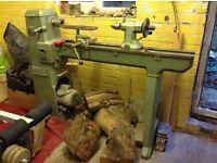 Industrial quality Wadkin BZL wood lathe.