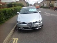 Alfa romeo 156 jtd veloce,77000 miles MOT may 2017, private plate not included