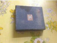 Antique box set Tudor plate Baronett x6 coffee spoons