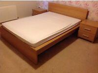 Oak effect bedroom furniture set