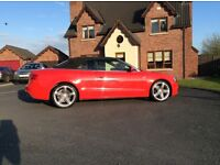 A5 red 2.0TDi S Line convertible for sale