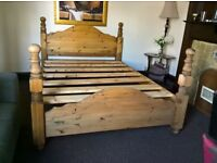 Double bed solid wood superior quality (Free delivery see description)