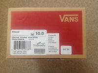 Men's burgundy and white vans shoes