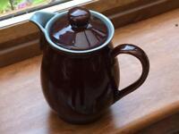 Vintage Denby Coffee Pot Homestead Brown Design. 1.5 pint size.