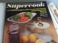 "Full set of ""Supercook"", a comprehensive retro guide to cooking with loads of recipes."