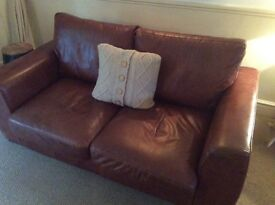 Two Seater Leather Sofa from House of Fraser