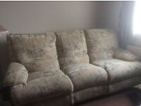 Sofa plus 2 matching armchairs
