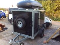 Box trailer camping trailer 6ftx4ft Tickners
