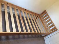 Single Pine Bed in excellent condition.