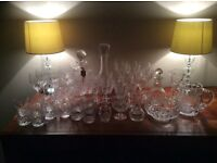 Chrystal glasses, decanters and ornaments