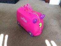 Pink child's Trunki suitcase