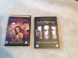 Twilight Saga DVD Set ( brand new)