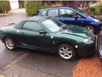 MGTF sport car green