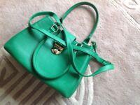 Green TU handbag