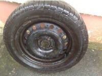 Pirelli 195/55/15 tyre on a steel rim, Ammanford area.