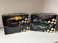 Minichamps F1 Formula 1 Die Cast 1/18 Models - McLaren, Red Bull, Jordan & Jaguar