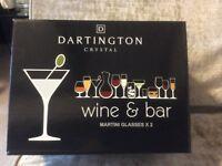 Dartington Crystal: Wine & Bar 2 x Martini Glasses