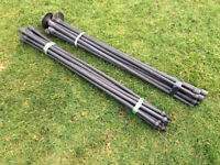 Set of Draining /chimney sweeping rods