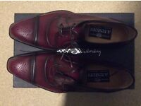 A. Testoni men's burgundy shoes