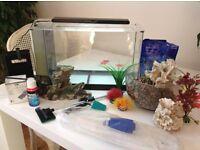 Fluval Spec 19L Black Aquarium Fish Tank plus Lots of Assessories