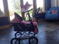 Miss Molly dolls pram & brolly