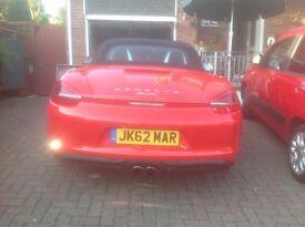 Red Porsche Boxster 20012