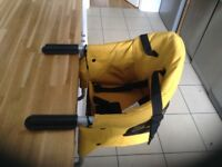 Isafe baby fast fit luxury booster seat -yellow