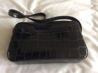 Simulated Moc-Croc small shoulder bag
