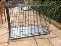 DOG CAGE Large Double Door Excellent Condition PET CAGE