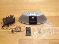 iPhone docking station/Clock Radio; portable aerial; FREE CD/Radio/Tape player