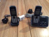 2 Handset cordless Panasonic phone.