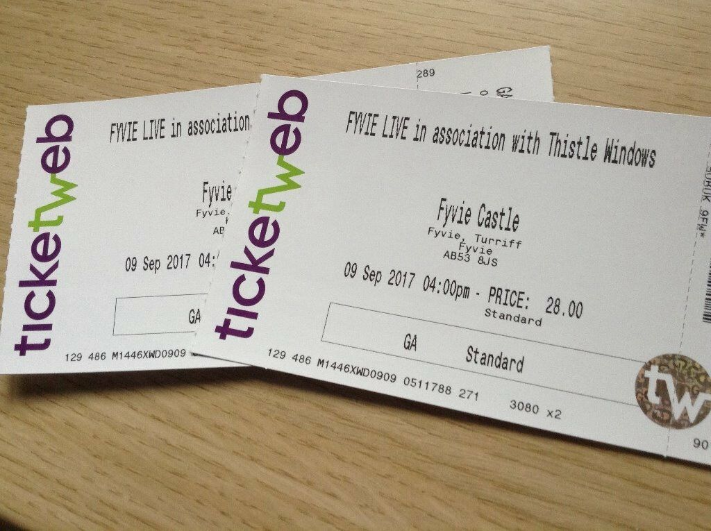 REDUCED PRICE Tickets for Fyvie Live