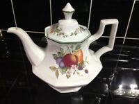 Fresh fruit teapot milk jug and sugar bowl
