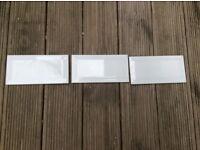 White bevelled tiles (x160)