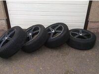 "4 x 18"" alloy wheel rims for Jaguar XF."
