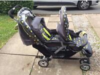 Double pram, like brand new only used 2/3 times!! Carrycot included