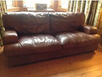 italian leather 3 seater settee