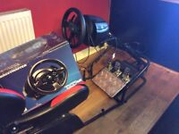Thrustmaster wheel 300 rs T3pa pro pedals