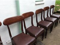 6 ANTIQUE MAHOGANY DINING CHAIRS
